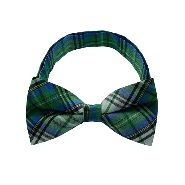 Green Checkered Plate 1 Bow Tie