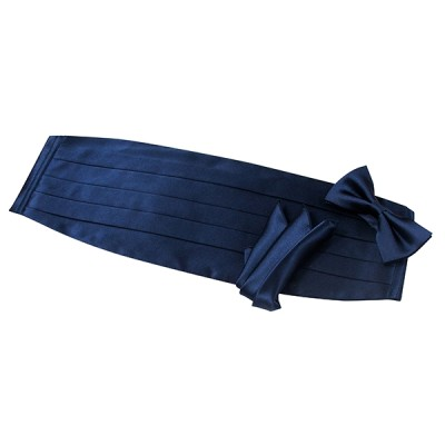 Navy Cummerbund Set