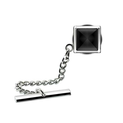 Catseye Square Tie Pin