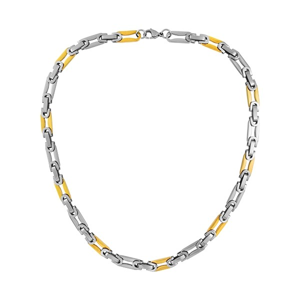 Two-Tone Twist Chain Necklace