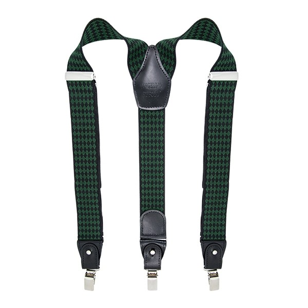Green Diamond Suspenders