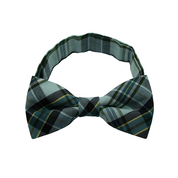 Mint Green Checkered Plate 1 Bow Tie